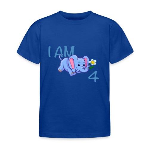 I am 4 - elephant blue - Kids' T-Shirt