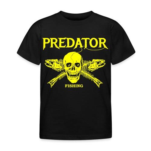 Predator fishing yellow - Kinder T-Shirt