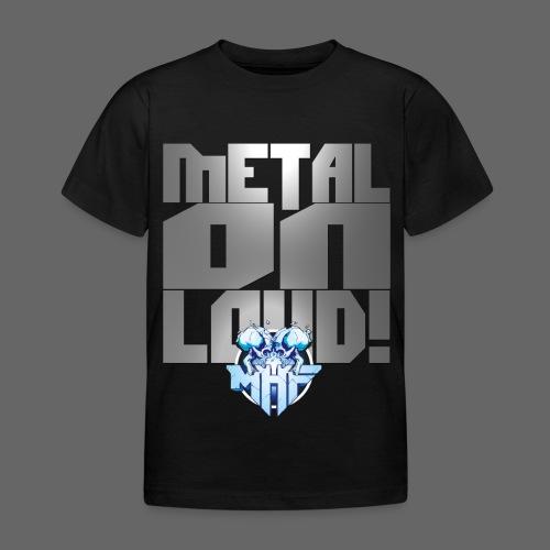 metalonloud large 4k png - Kids' T-Shirt