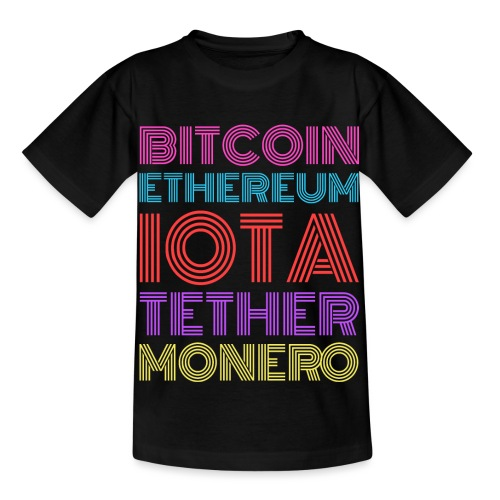 Retro Crypto | Bitcoin, Ethereum, IOTA, Tether - Kinder T-Shirt