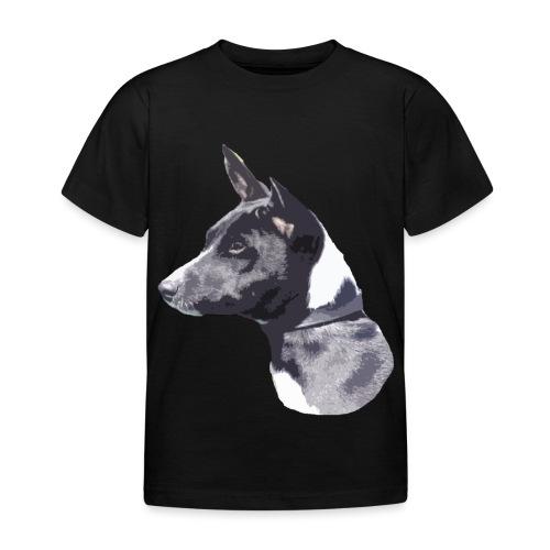basenji black - Børne-T-shirt