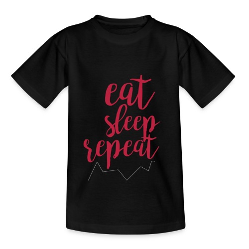 eat sleep repeat - Camiseta niño
