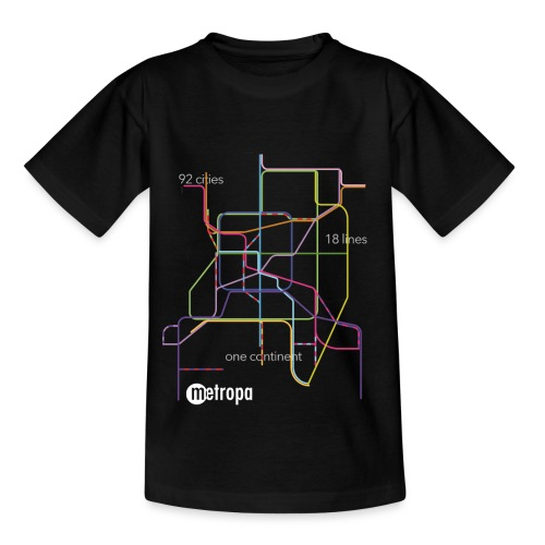 metropa abstract black - Kinder T-Shirt