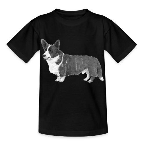 welsh Corgi Cardigan - Børne-T-shirt