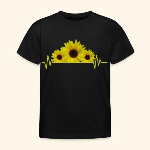 Sonnenblumen Herzschlag Sonnenblume Blumen Blüten - Kinder T-Shirt