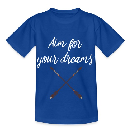 Aim for your Dreams white - Lasten t-paita