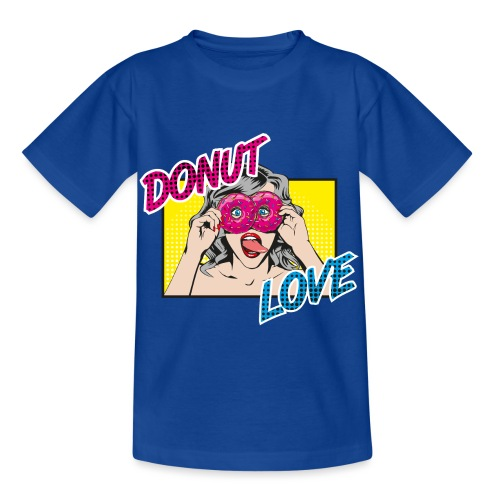 Popart - Donut Love - Zunge - Süßigkeit - Kinder T-Shirt