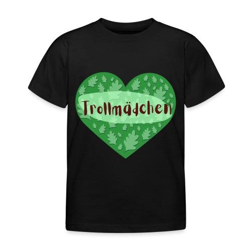 Trollmädchen grün - Kinder T-Shirt