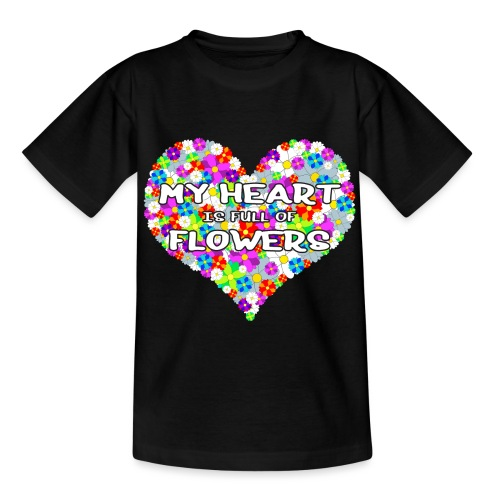 My Heart is full of Flowers - Kinder T-Shirt