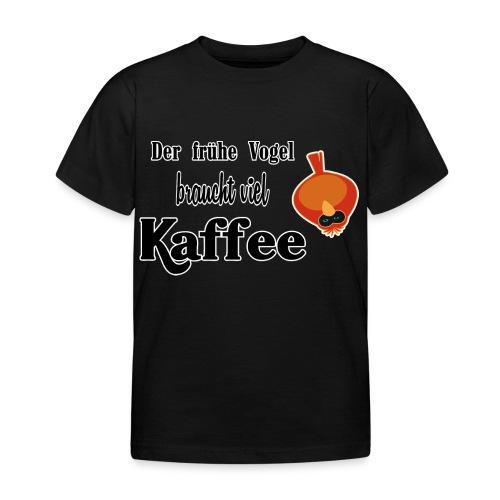 kaffeeVogel.png - Kinder T-Shirt