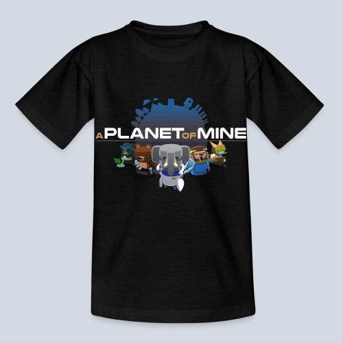logo planetofmine dark HD - T-shirt Enfant