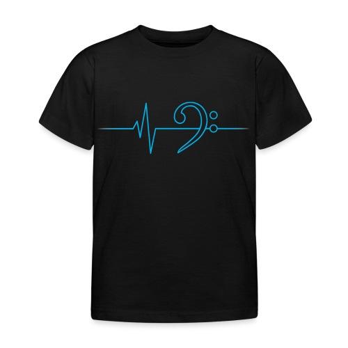 LowHeartBeat cyan - Kinder T-Shirt