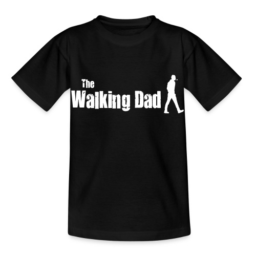 the walking dad white text on black - Kids' T-Shirt