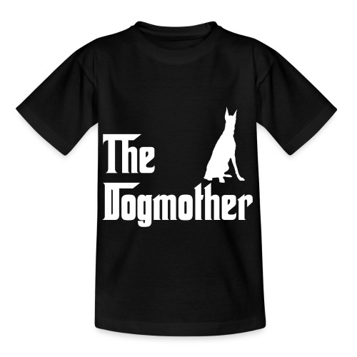 The Dogmother white dobermann - Kinder T-Shirt