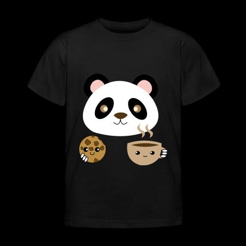 Oso Panda Merendando - Camiseta niño