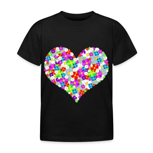 Blumenherz - Kinder T-Shirt