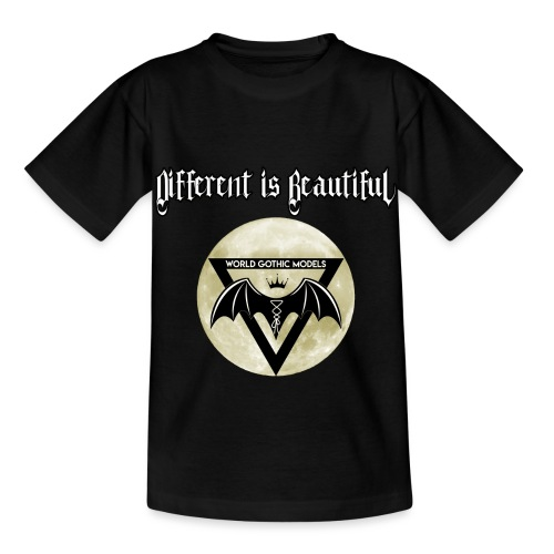 Different is Beautiful with Moon WGM Logo - Kids' T-Shirt