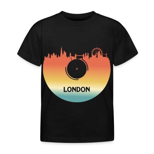 London Skyline Vinyl Schallplatte London Souvenir - Kinder T-Shirt
