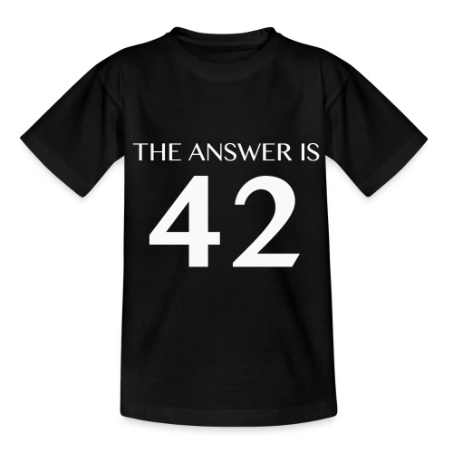 The Answer is 42 White - Kids' T-Shirt