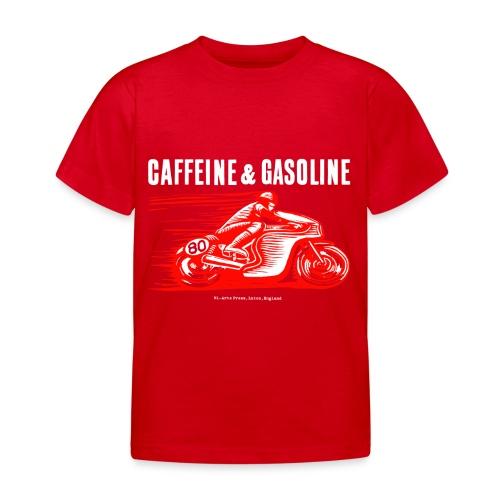 Caffeine & Gasoline white text - Kids' T-Shirt