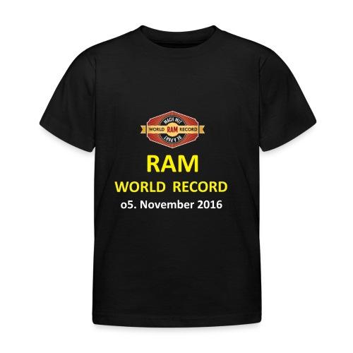 RWR gelb mit Datum (weiß) - Kinder T-Shirt