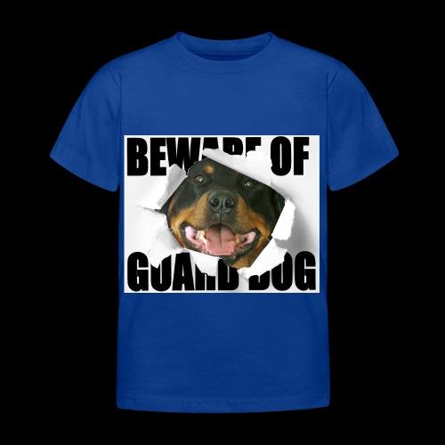 beware of guard dog - Kids' T-Shirt