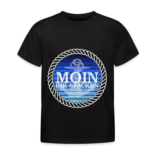 Moin ihr Spacken maritimer Retrokreis Geschenkidee - Kinder T-Shirt