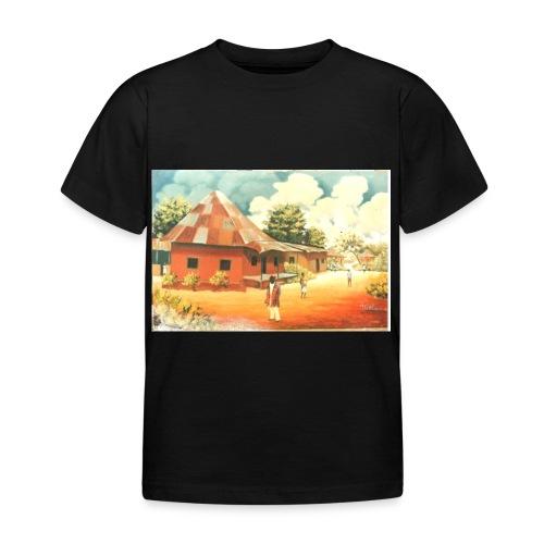 Rural African Village Scene Sofa pillow cover 44 x - Kids' T-Shirt