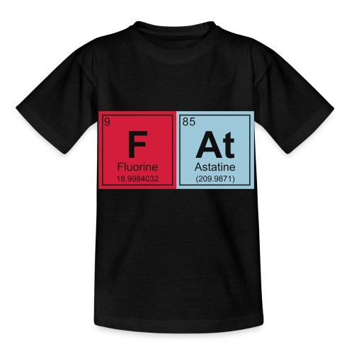 Geeky Fat Periodic Elements - Kids' T-Shirt