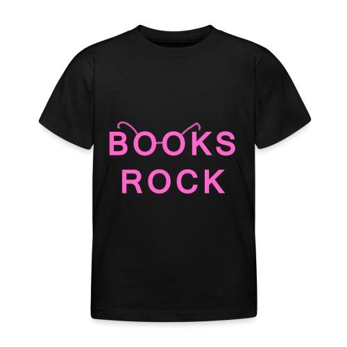 Books Rock Pink - Kids' T-Shirt