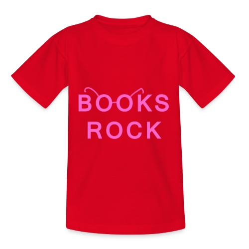 Books Rock Pink - Kids' T-Shirt