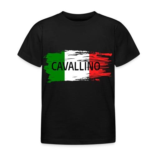 Cavallino auf Flagge - Kinder T-Shirt