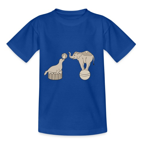 Circus elephant and seal - Kids' T-Shirt