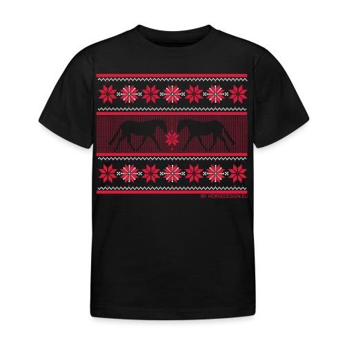 Ugly Sweater Pferde - Kinder T-Shirt