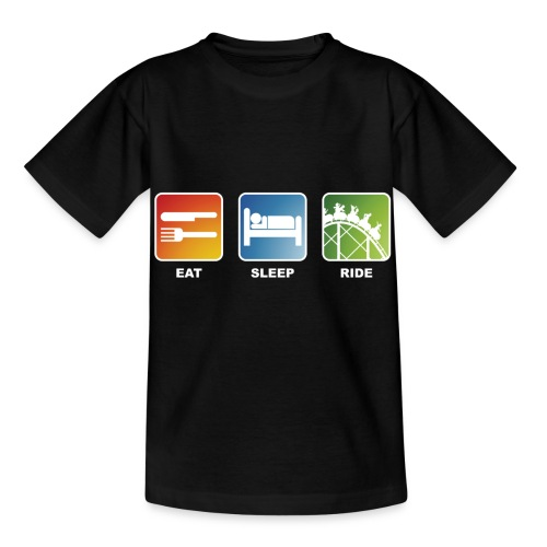 Eat, Sleep, Ride! - T-Shirt Schwarz - Kinder T-Shirt
