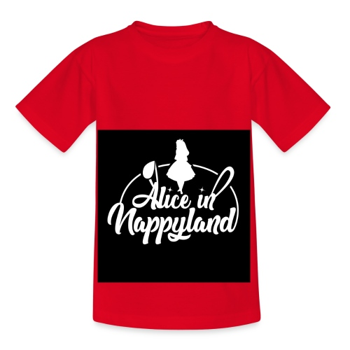 Alice in Nappyland TypographyWhite 1080 - Kids' T-Shirt