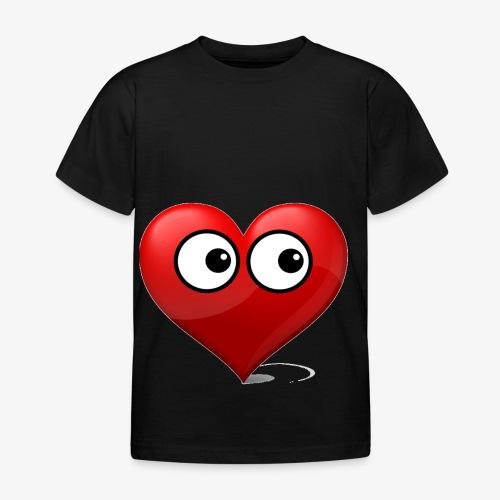 cœur avec yeux - T-shirt Enfant