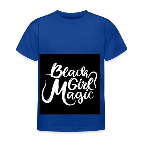 Black Girl Magic 1 White Text - Kids' T-Shirt