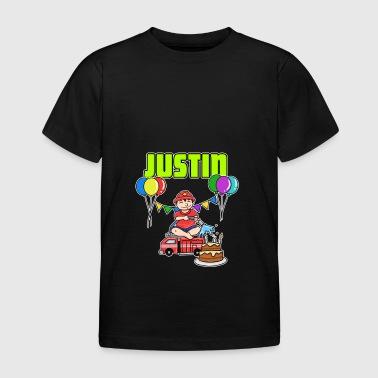 Fire Department Justin Gift - Kids' T-Shirt