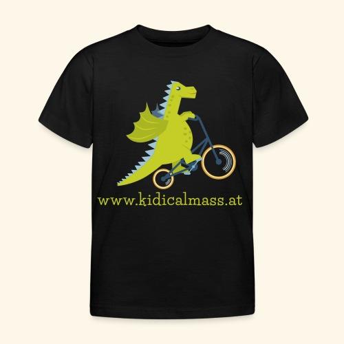 Musikdrache für dunklen Hintergrund - Kinder T-Shirt