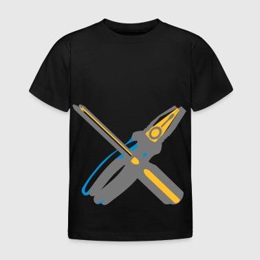 Pliers screwdriver craftsman - Kids' T-Shirt