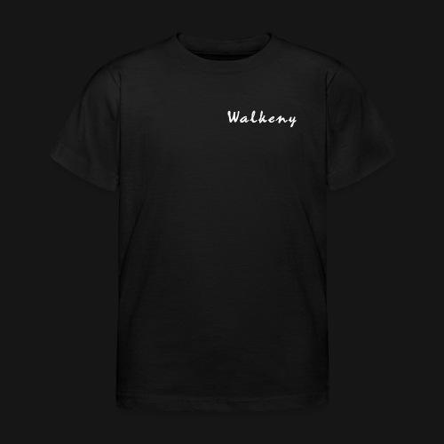 Walkeny Schriftzug in weiß! - Kinder T-Shirt