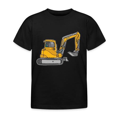 BAGGER, gelbe Baumaschine mit Schaufel und Ketten - Kinder T-Shirt