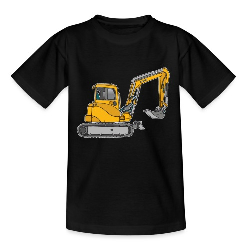 Gelber Bagger - Kinder T-Shirt
