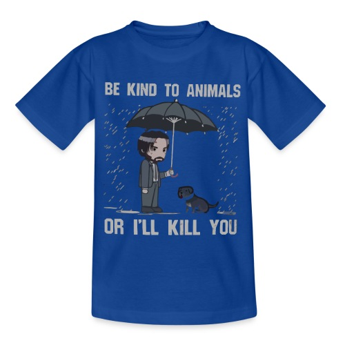 Be kind to animals or I'll kill you halloween - Kids' T-Shirt