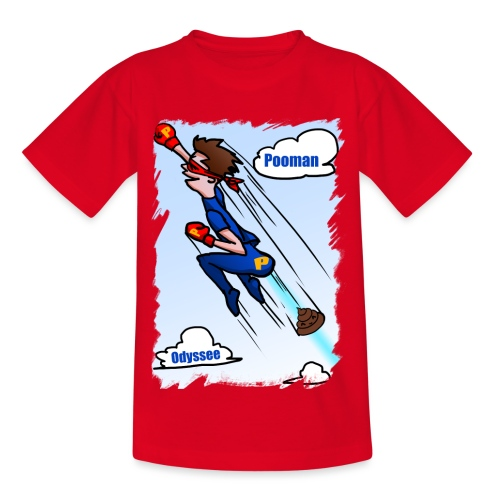 Superhero Pooman - Kids' T-Shirt