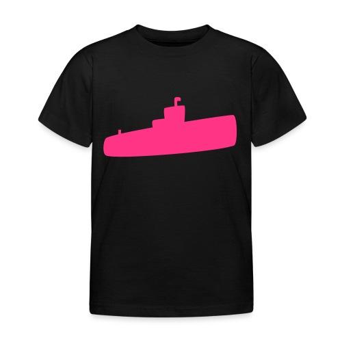 Rosa U-Boot - Kinder T-Shirt