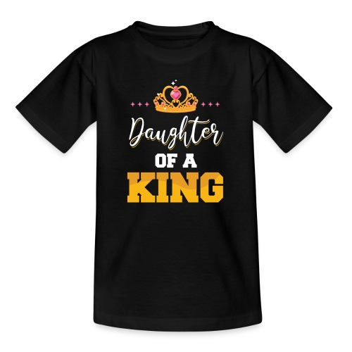 Daughter of a King Vater Tochter Partnerlook - Kinder T-Shirt