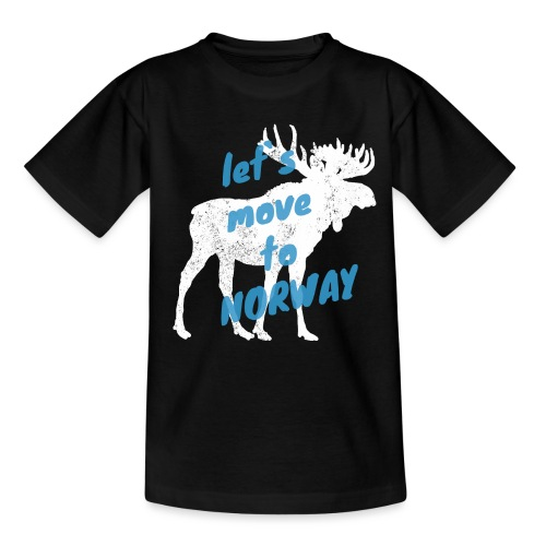 Norwegen Elch Auswandern Umzug Geschenk - Kinder T-Shirt