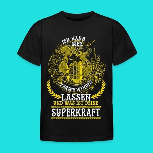 Bier Superkraft - Kinder T-Shirt